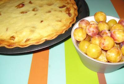 Tarte aux mirabelles de Lorraine et au fromage blanc - recette indexée dans la rubrique Desserts