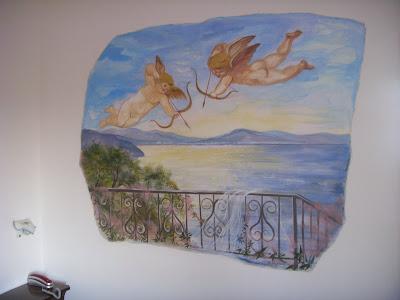 部屋の壁画