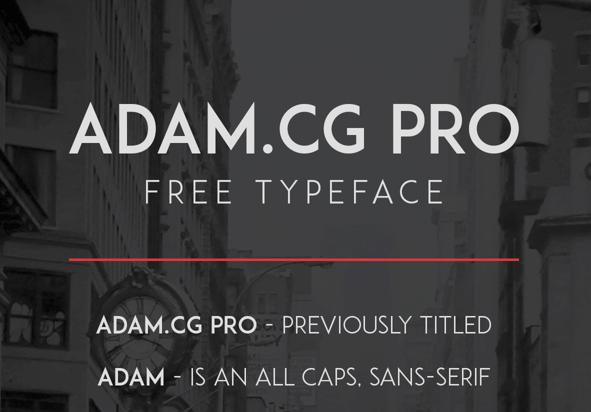 ADAM.CG PRO Free Fonts