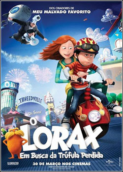 Filme Poster O Lorax: Em Busca da Trúfula Perdida R5 XviD Dual Audio & RMVB Dublado