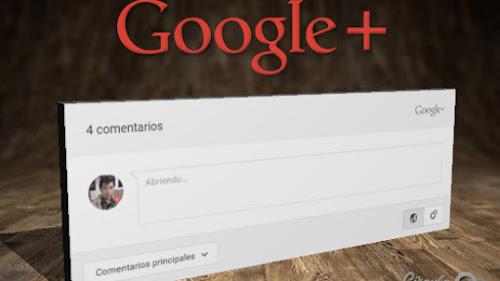 Codigo Google+ Comentarios