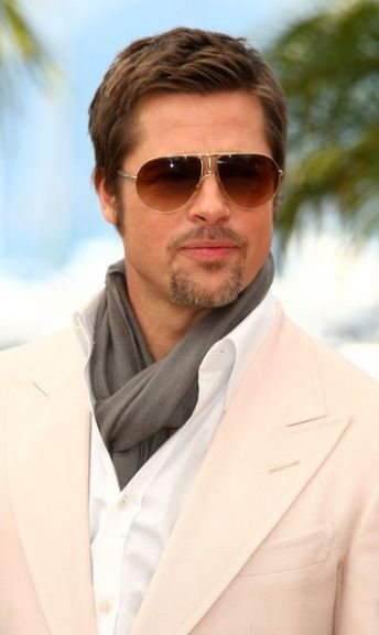 Brad Pitt Acne Scars. New Fashion Of Scarf