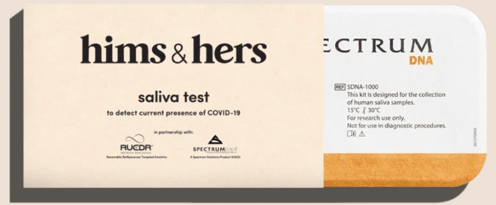 hims & hers coronavirus test