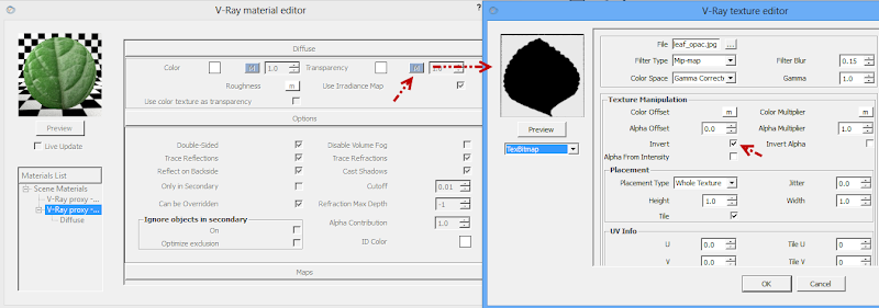 ขอถามเกี่ยวกับการเรนเดอร์ vray v .2 ครับ   ติีกที่ Use color texture as transparency  ขอบไม่หายครับ  3dprox2su06