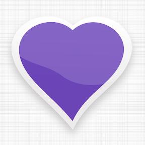 Corazón de color violeta