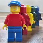 Lego minifigure crayons
