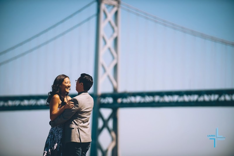 Bay Bridge Engagement Photo