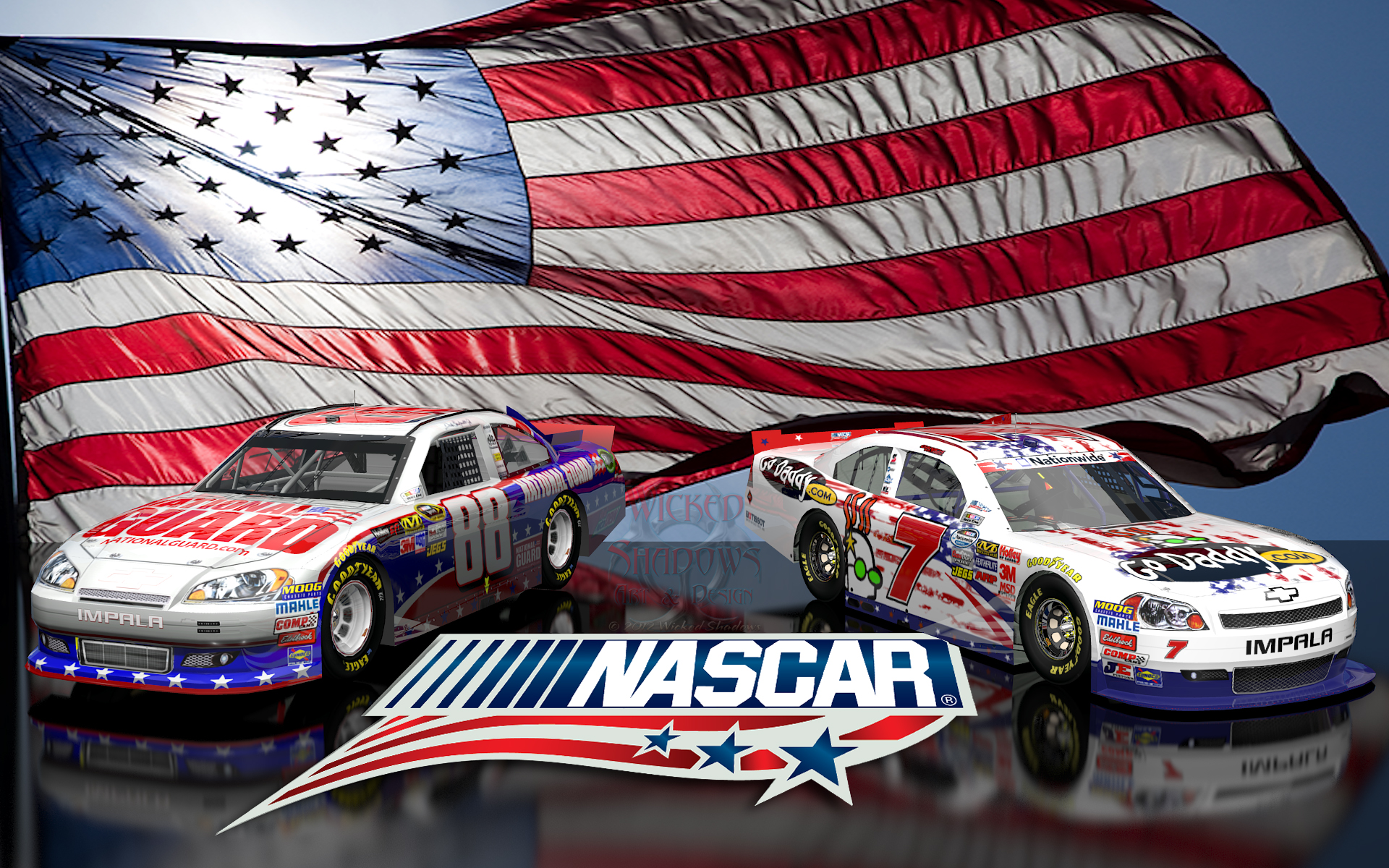 Wallpapers by wicked shadows danica patrick dale earnhardt jr danica patrick dale earnhardt jr nascar unites wallpaper voltagebd Image collections