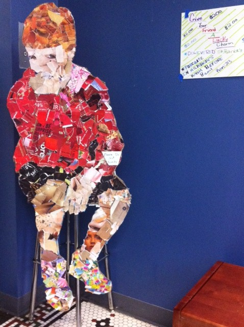 EStem Visual Arts: Our Life-size Collage Figures Are ...