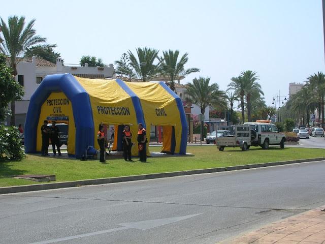 Puesto de Mando (PMA), ubicado en la rotonda aledaña al suceso.