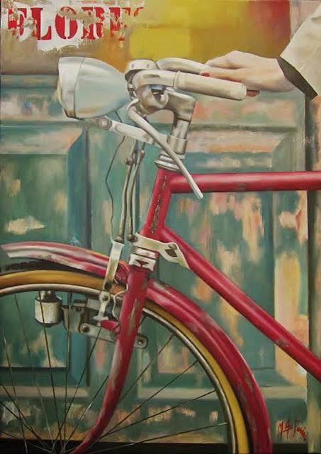 El faro,pintura al óleo de Marta Astrain
