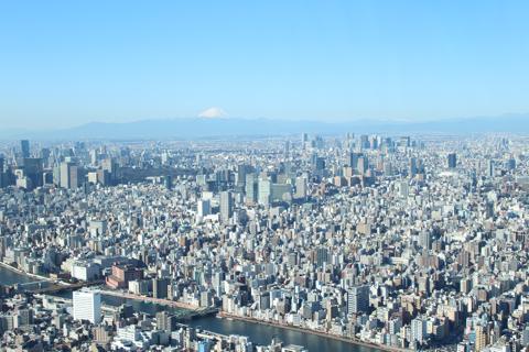 東京スカイツリー天望回廊から見る景色
