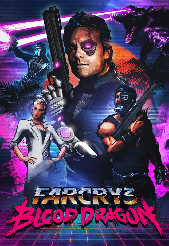 Cover Of Far Cry 3 Blood Dragon (2013) Full Latest Version PC Game Free Download Resumable Links at Alldownloads4u.Com