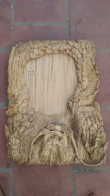 Khay trà đầu Rồng gỗ gụ Quảng Bình mẫu KT14 1