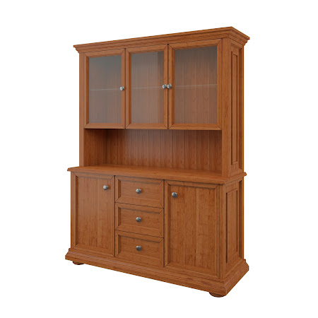 Edinburgh China Cabinet in Itasca Maple