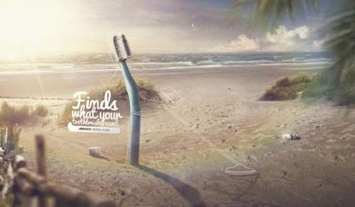 Реклама зубной нити
