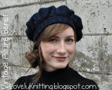 Knitting Girl s Lovely Knitting  Vintage Allure Beret 6c4c467c8fb