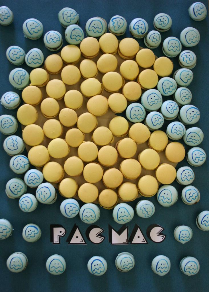 Carotte Lychee Un Pixel Art De Pacman En Macarons