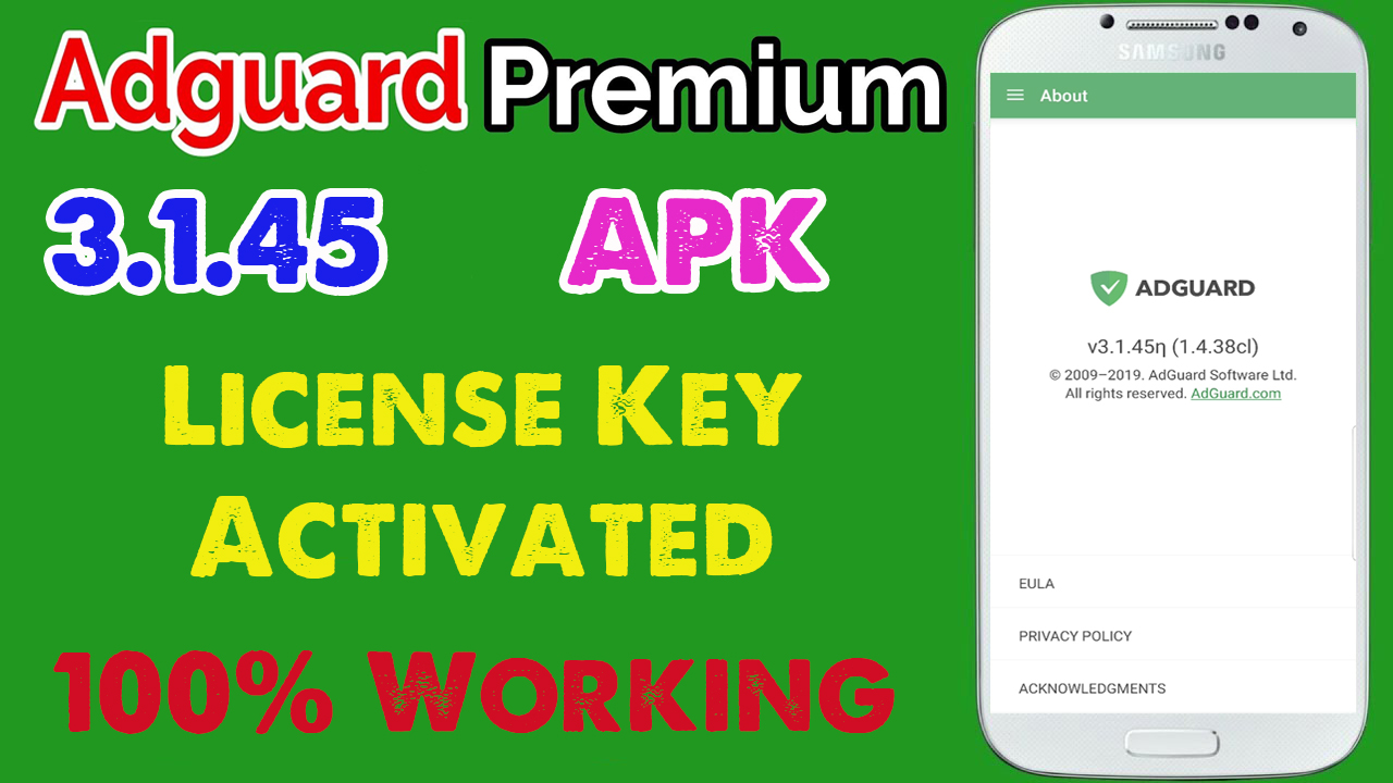 Adguard Premium Apk 3.1.45 [Block Ads] License Key Activated - App Android (100% Working)