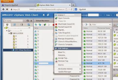 Intentar ampliar tamaño de disco duro virtual a más de 4TB en VMware vSphere Web Client