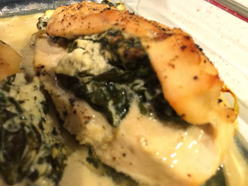 Spinach and Goat Cheese Stuffed Chicken for #WeekdaySupper