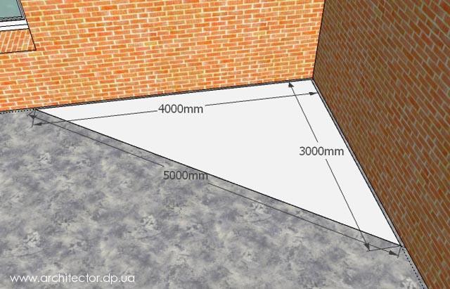 строительство фундамента, строим фундамент своими руками, ленточный фундамент, египетский треугольник, фундамент из блоков, Людмила Ананьина