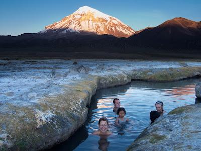 Bany a les aigües termals, a 35º