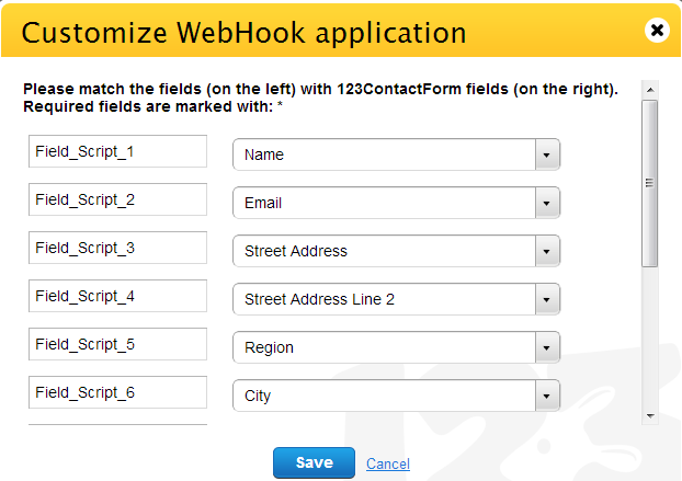 Webhooks customize