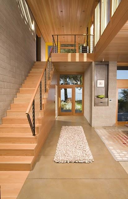 4 Дизайн интерьера деревянного дома в Вашингтоне, США ФОТО