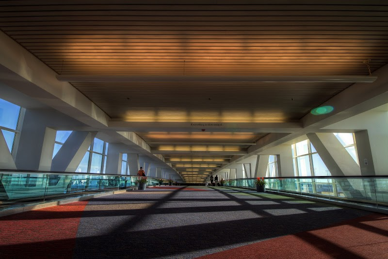 Walkway in Denver International Airport