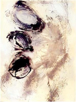 Mots - invisible I, 1992 200 x 150 cm, acylique sur toile