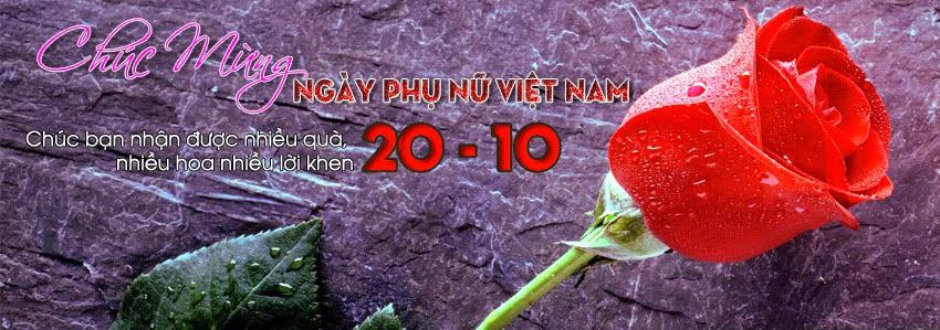 Ảnh bìa 20-10 cho Facebook - Ngày Phụ nữ Việt Nam