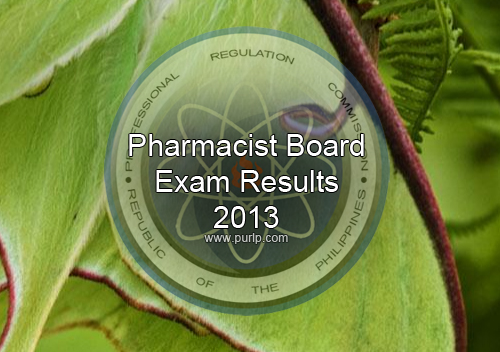 JAN 2013 Pharmacist Board Exam Results Full List
