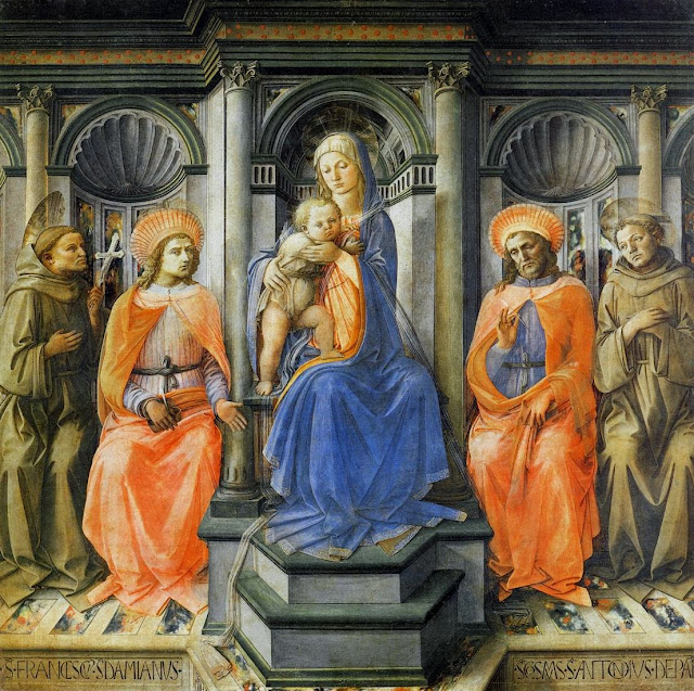 Filippino Lippi - Madonna Enthroned with Saints