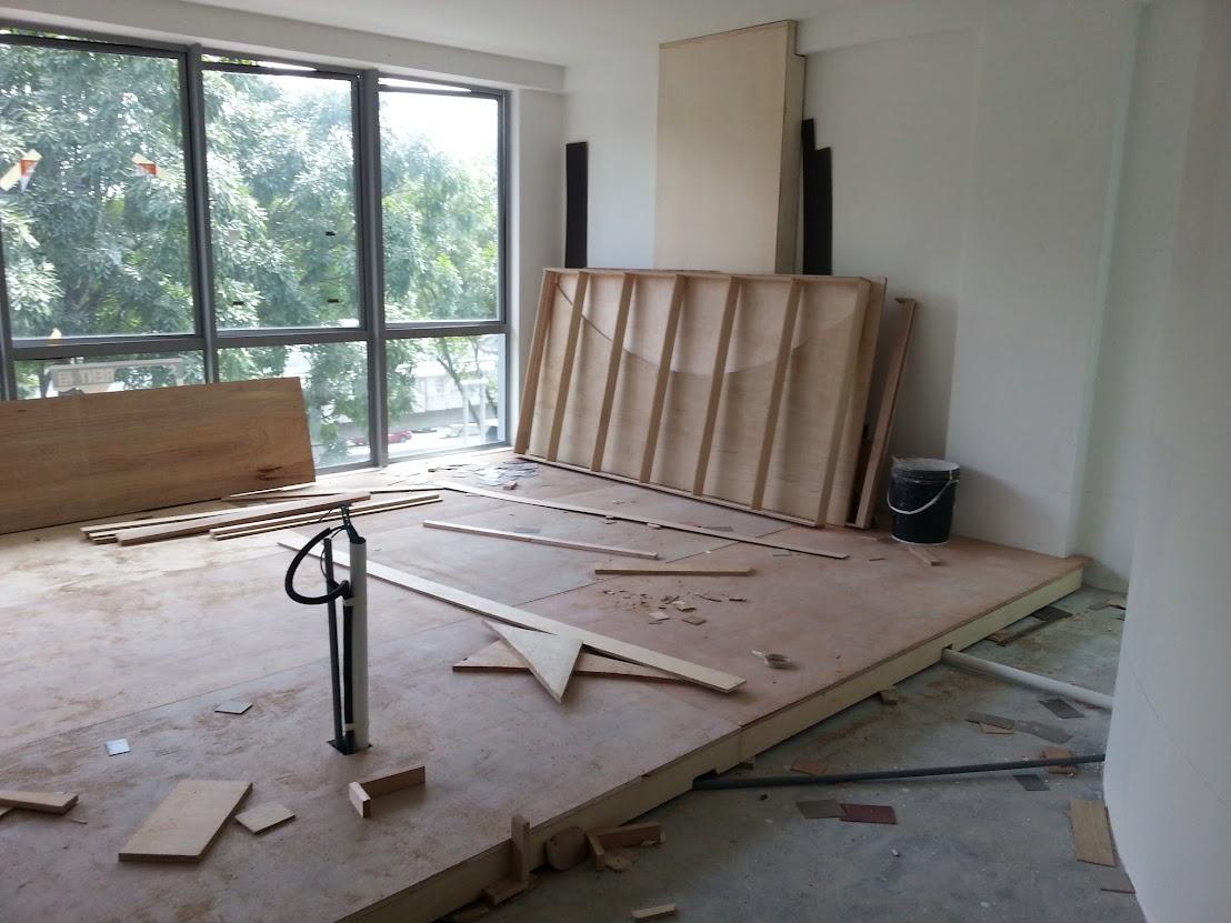 wooden raise floor