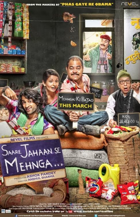 Poster Of Hindi Movie Saare Jahaan Se Mehnga (2013) Free Download Full New Hindi Movie Watch Online At Alldownloads4u.Com