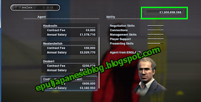 Cara Menambah Money Become A Legend (BAL) PES 2013