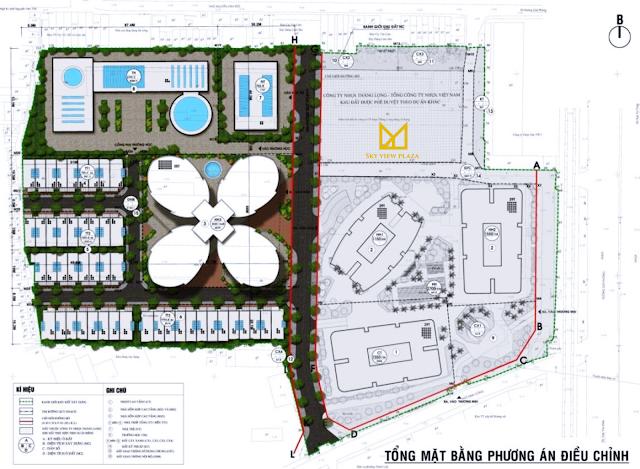 Mặt bằng thiết kế dự án Sky View Plaza