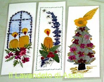 segnalibri natalizi albero e candele
