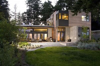 2 Дизайн интерьера деревянного дома в Вашингтоне, США ФОТО