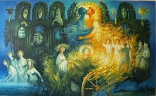 Kupala Slavic Water Goddess Image