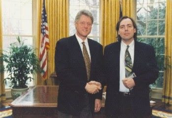 Michael Veitch visits the White House and meets Bill Clinton