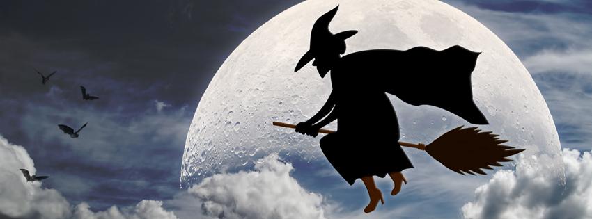Ảnh bìa mụ phù thủy cưỡi chổi