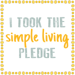I took the simple living pledge