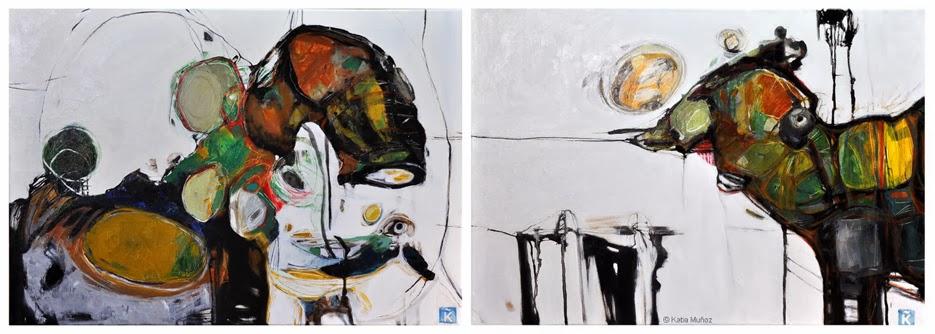 conexiones,pintura de Katia muñoz