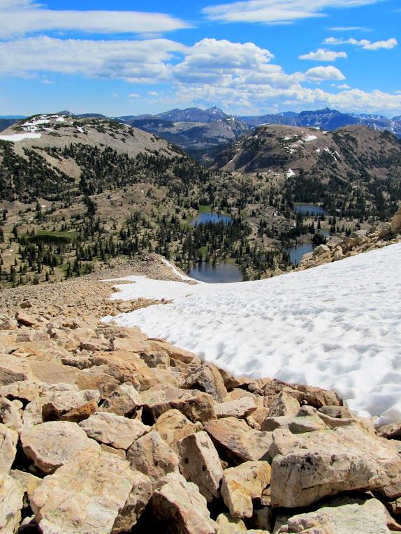 View down the northeast ridge of Mt. Watson