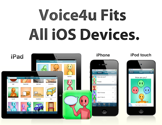 Voice4u App Fits All iOS Devices