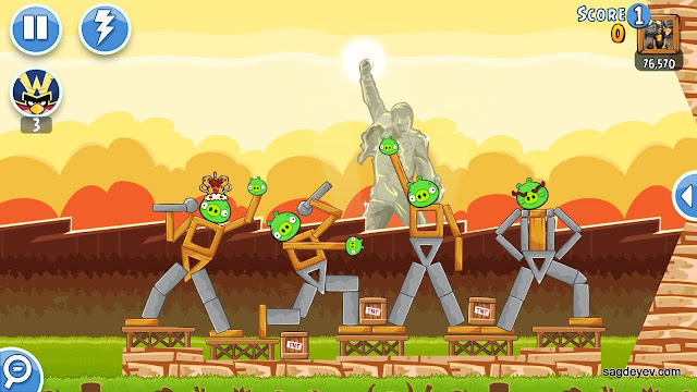 Angry Birds Friends: Freddie For A Day Level 4 - The Band