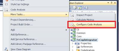 Configure code analysis