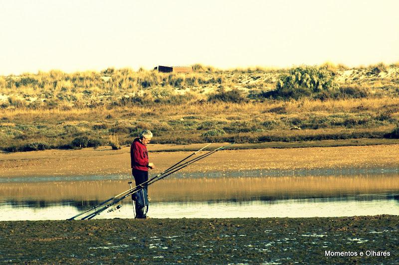 Pescador na Ria Formosa